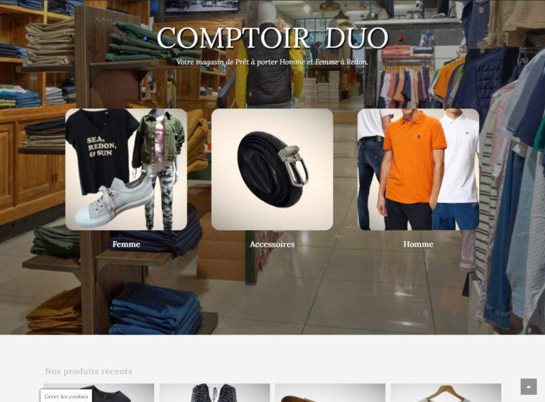 Read more about the article E-boutique pour magasin de vêtements
