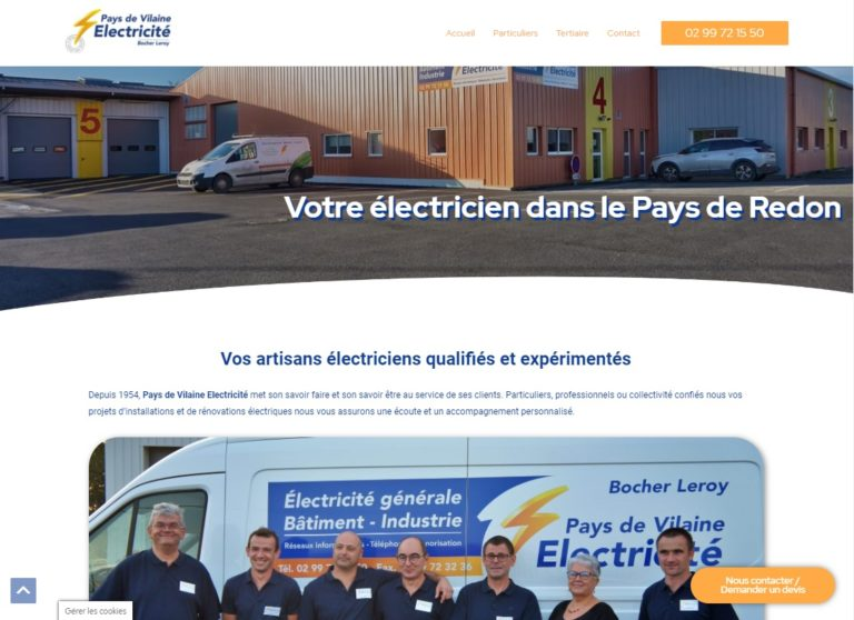 Read more about the article Site Internet pour un electricien